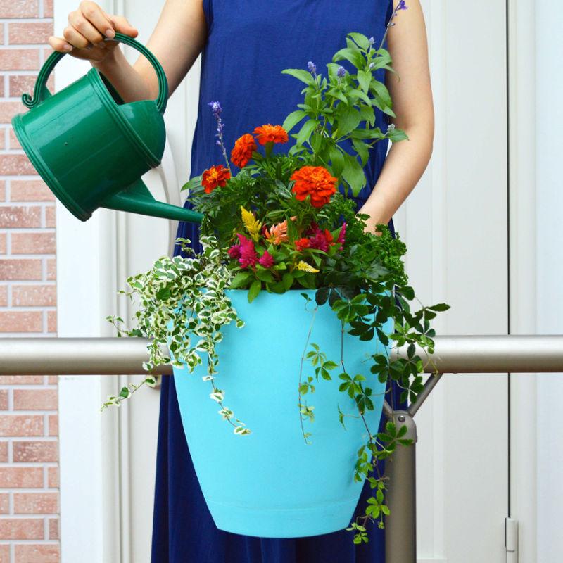 鉢 ハンギング バスケット プランター ポット 菜園 ガーデニング / グリーンボ(Greenbo) ターコイズ /A