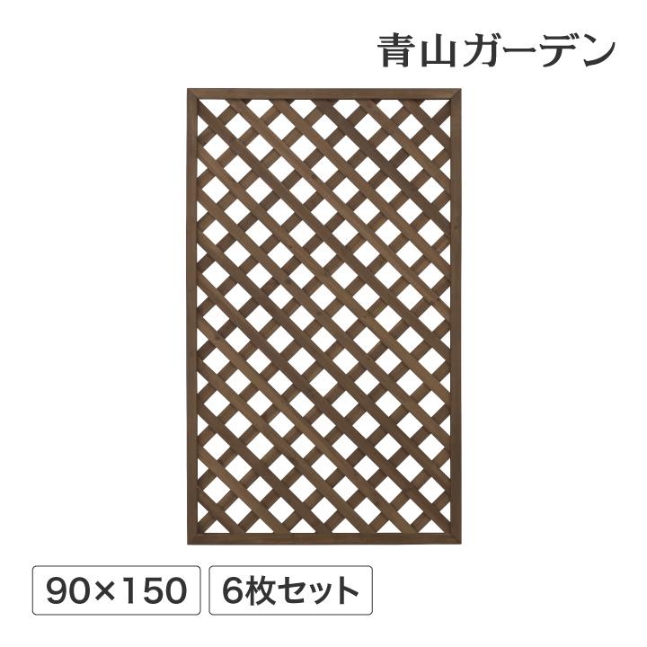 ラティス フェンス 木 ACQ 耐久性 目隠し 目かくし 境界 DIY タカショー / パワーラティス900×1500 6枚セット /D