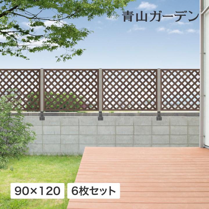 ラティス フェンス 木 ACQ 耐久性 目隠し 目かくし 境界 DIY タカショー / パワーラティス900×1200 6枚セット /C