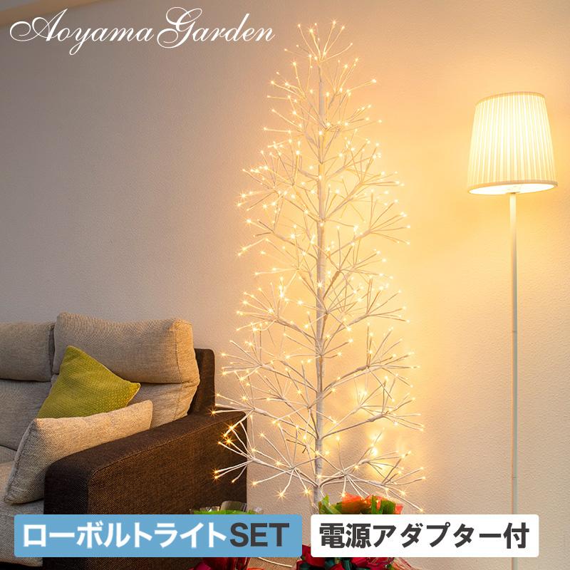 イルミ LED ライト 屋外 クリスマス ツリー 枝ツリー 電飾 タカショー / ローボルト クラスターツリー L シャンパンゴールド /A