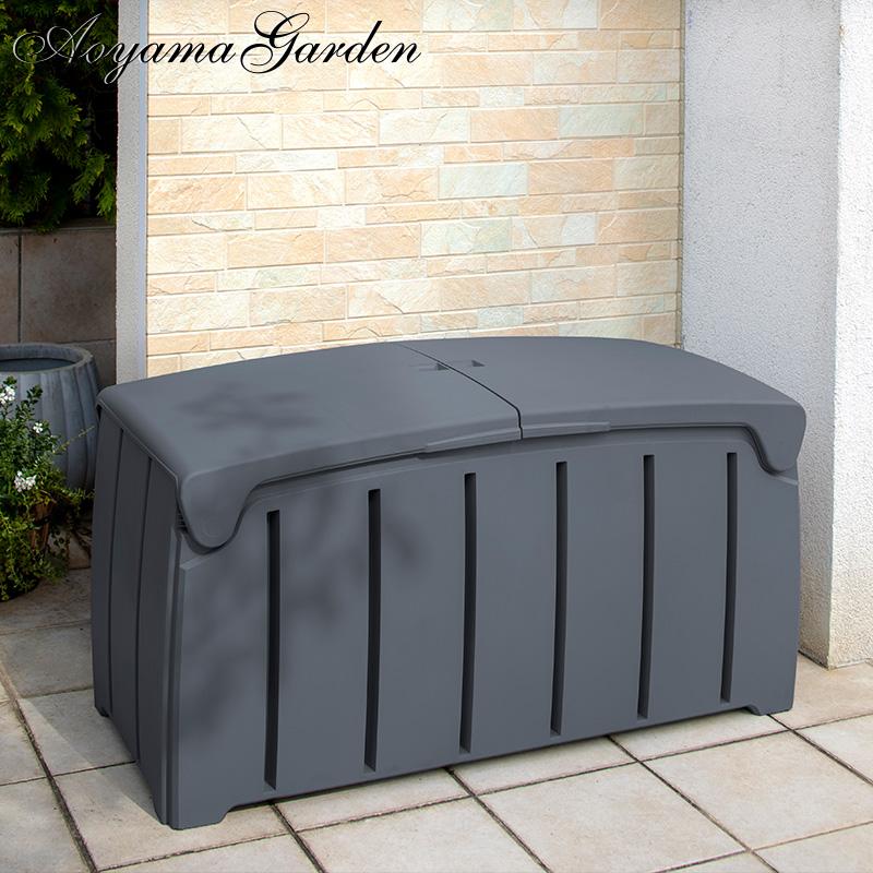 収納 屋外 ボックス 大容量 ベンチ ポリプロピレン タカショー / ワードガーデン 収納BOX グレー /C