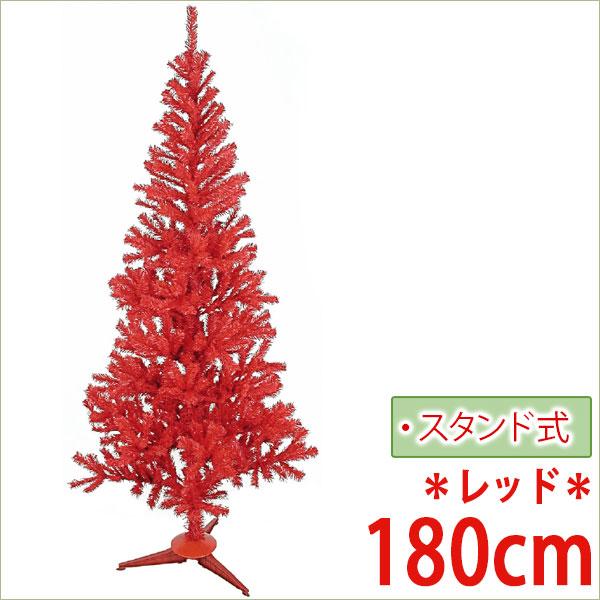 クリスマス ツリー 店舗 施設 イベント 人工植物 母の日 2019 / スリムツリー 180cm レッド /A