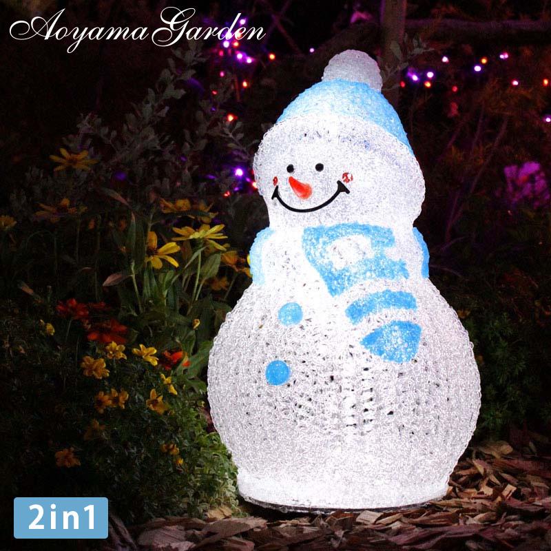 イルミネーション 屋外 雪だるま LED ライト クリスマス かわいい デコレーション タカショー / 3Dクリスタルモチーフ スノーマン S /A