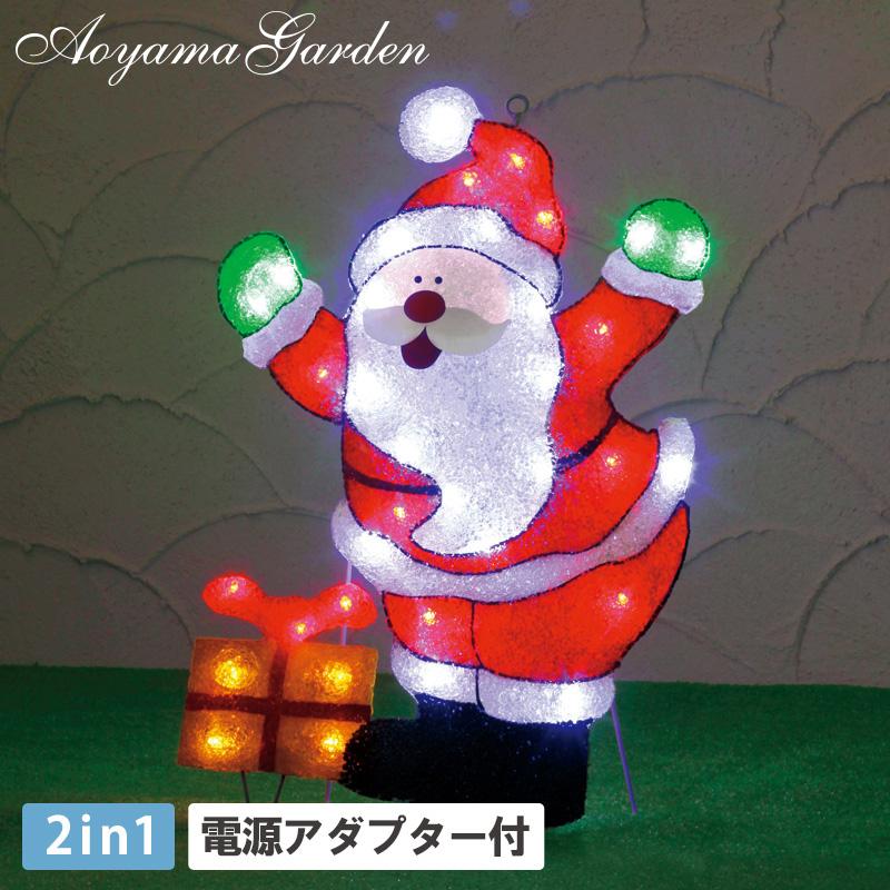 イルミネーション LED ライト 屋外 クリスマス サンタ 電飾 タカショー / 2Dスタンドソフトモチーフライト サンタクロース /A