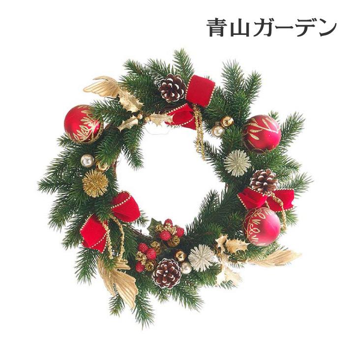 クリスマスリース 店舗 施設 イベント 造花 / モミリース(ゴールド&レッド)φ40 /A