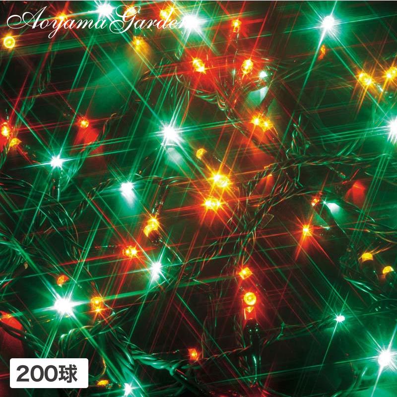 イルミ LED ライト 屋外 クリスマス 電飾 タカショー 母の日 2019 / イルミネーション ストレート 200球 マルチ /A