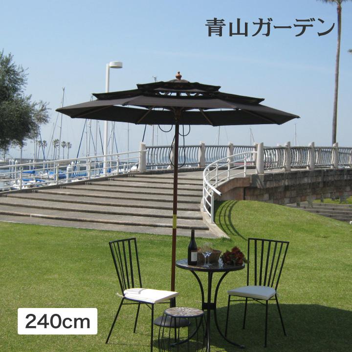 華やかな三層式パラソルは日差しカットと雰囲気づくりを両立 お金を節約 パラソル セール特価 日よけ 遮光 紫外線 UV 影 三層 庭 3層パラソル ダークブラウン 4m B おしゃれ 2. タカショー ガーデン