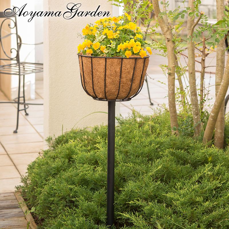 ハンギング 鉢 プランター ガーデン タカショー / Qsui AQUA タワーバスケット 杭タイプ /A