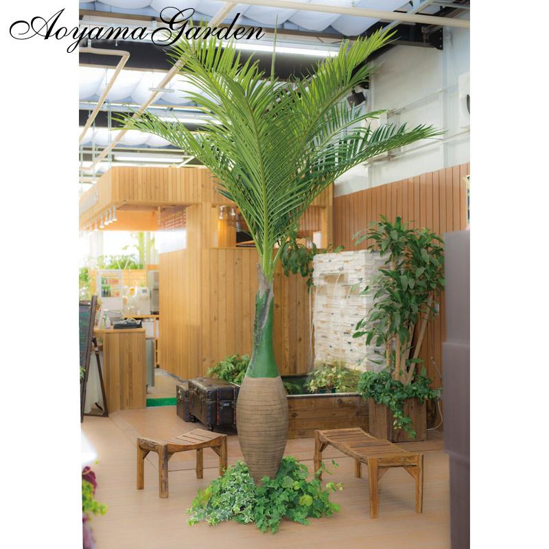 人工観葉植物 造花 業務用 施設 オフィス 店舗 装飾 フェイク グリーン タカショー / トックリヤシ 3.5m /E