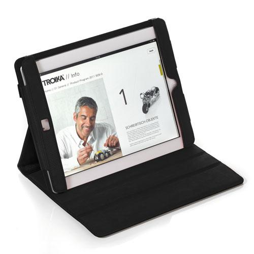 [TROIKA GERMANY][ドイツ・トロイカデザイン]iPad2専用カバースタンド、ミッドナイト ドイツのブランド トロイカ iPadケース TR-IPC49/LE