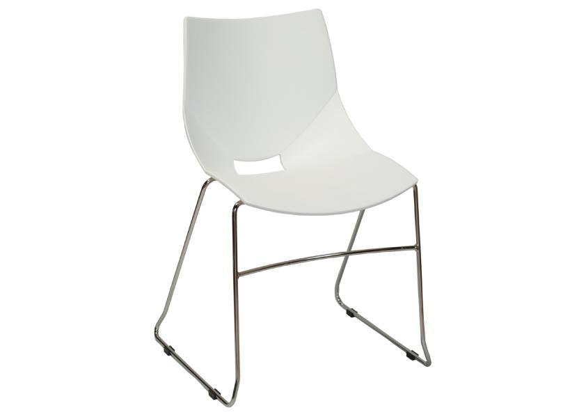 フランス・Sokoa (ソコア)社チェア Koska Loop (コスカ ループ) ホワイト おしゃれなスタッキングチェア(イス・椅子) 送料無料 キャッシュレス5%ポイント還元