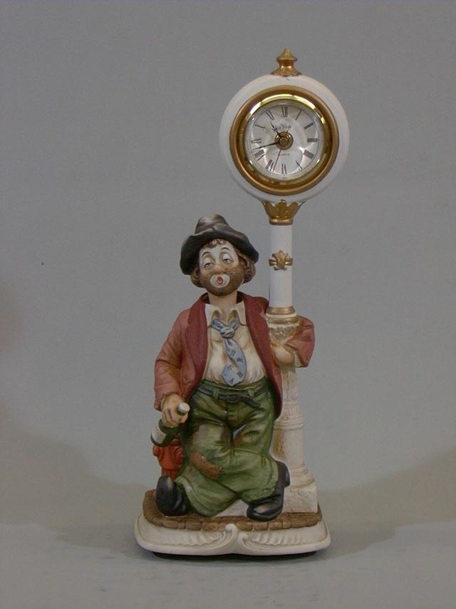 카라쿠리 시계가 포스트 윌리 레드 재킷 앤틱 풍 탁상 시계 fs3gm