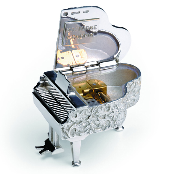 スイス・リュージュ REUGE オルゴール  ピアノ型のボックス 17弁 AXA.17.4407.000