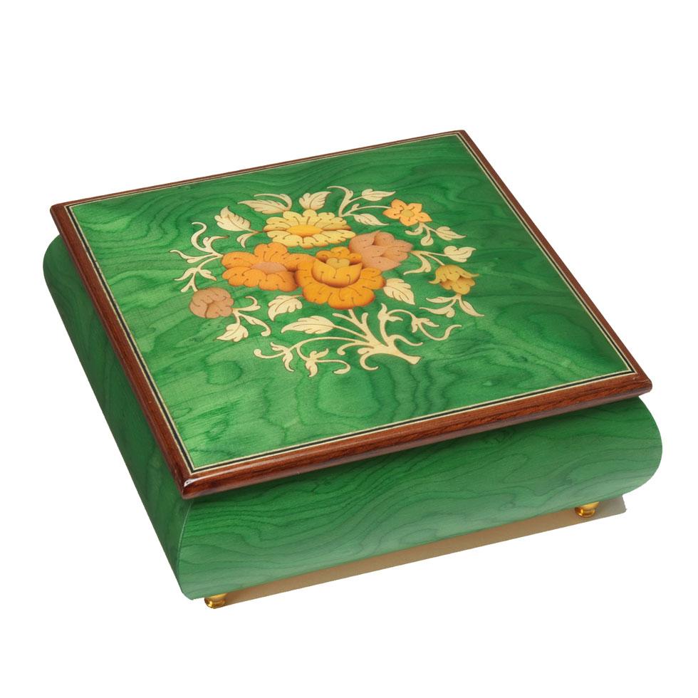 スイス・リュージュ REUGE オルゴール  1曲 22弁 ニレのコブ材 宝石箱 RXA.22.2660.A00