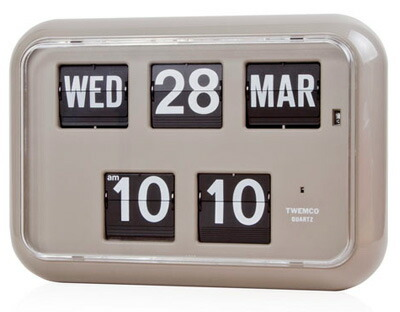 TWEMCO社クロック(QD-35)[グレー] 置き掛け兼用時計 送料無料