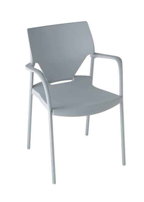 フランス・Sokoa (ソコア)社アームチェアioko (ioko) ライトグレー おしゃれなスタッキングチェア(イス・椅子) 送料無料