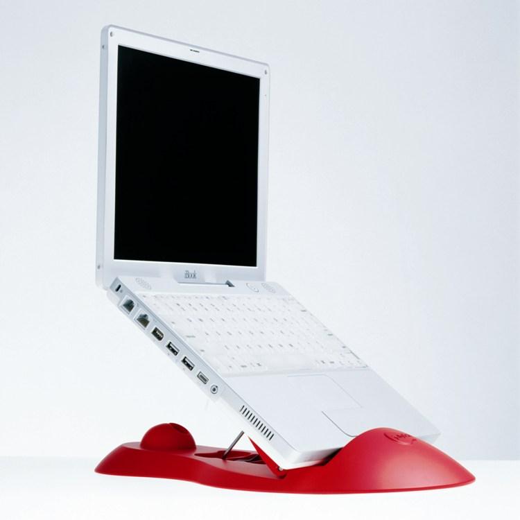 """영국에서 만들어진 노트북 스탠드 """"해파리"""" Jellyfish (옐로우) 노트북 PC 용의 세련 된 스탠드"""