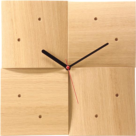 cosine(コサイン)掛け時計【R】(ナラ材) 木製 掛時計 【おしゃれ】 CW-06CN 送料無料 キャッシュレス5%ポイント還元