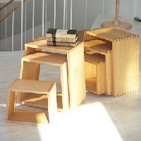 旭川のクラフト工房 cosine(コサイン)ネストスツールST-03NS サクラ材の椅子 送料無料 【旭川家具】 木製 スツール 国産(日本製) いす(イス) 無垢材でしっかり仕上げたチェア キャッシュレス5%ポイント還元