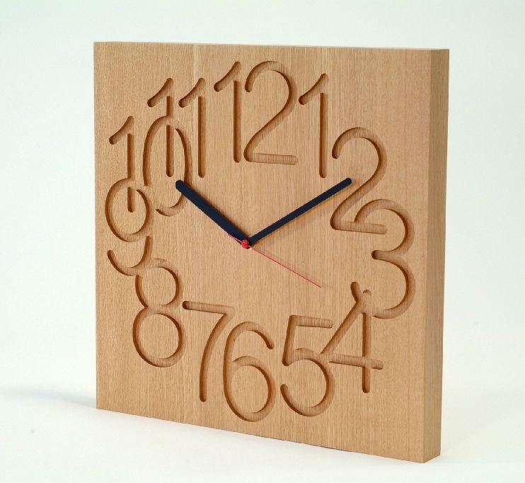 Asahikawa Craft Work Cosine Muku Clock Large Oak Wood Cw 09cn Wall Clocks