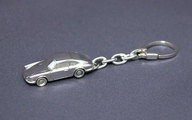 SilverCar(シルバーカー)キーホルダー・ポルシェ911 銀細工 ミニチュアカー スターリングシルバー 1/100スケール】 送料無料 キャッシュレス5%ポイント還元