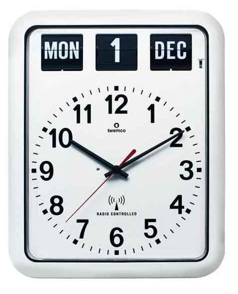 TWEMCO 電波クロック(電波時計)RC-12A (ホワイト)おしゃれな掛け時計・壁掛け 送料無料