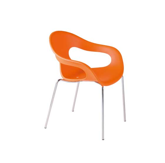 イタリアArrmet(アーメット)社チェアーSUNNY Chrome / (サニー /クローム)(オレンジ) イタリア製のおしゃれなチェア(椅子・いす) 送料無料 イタリア家具