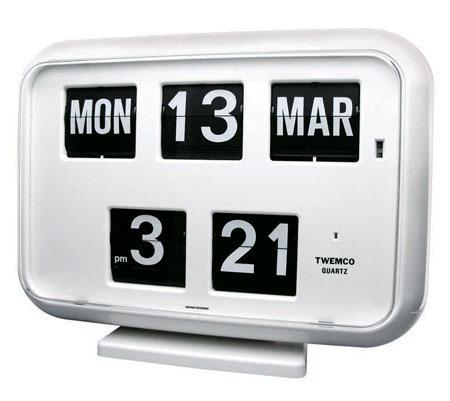 TWEMCO社クロック(QD-35)[ホワイト] 置き掛け兼用時計 送料無料 キャッシュレス5%ポイント還元