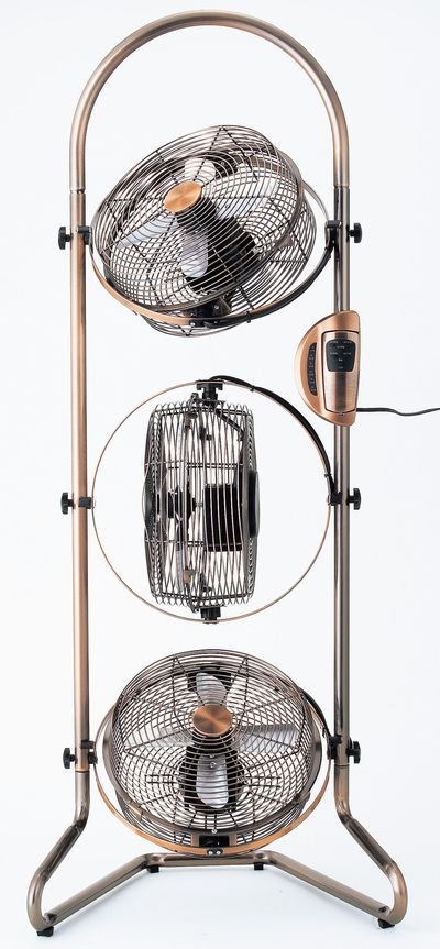 [Doshisha] pieria Pieria 3 Tower BOX metal fan [bronze] electricity remote-control stand (floor standing) fan NBM-2391