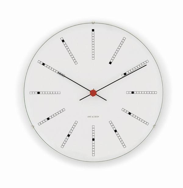 Arne Jacobsen(アルネ・ヤコブセン) Wall Clock バンカーズ・クロック (29cm)  掛時計(掛け時計)北欧 デンマークのデザイナー製 送料無料
