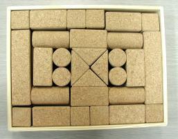コルクの積み木 b-set 子供さん・赤ちゃんへのプレゼントにもお勧め、安心・安全のコルク製の積木 送料無料