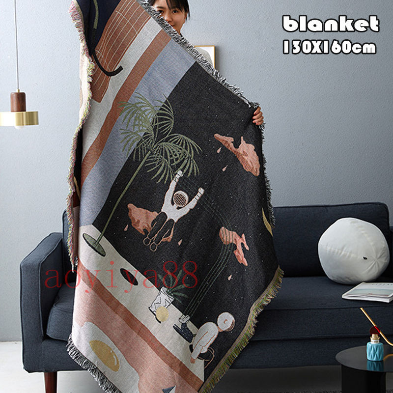宇宙 ins風 ソファー毛布 お気に入り 公式 ブランケット タペストリー 保暖 掛け布団 装飾 冷房対策 家庭用