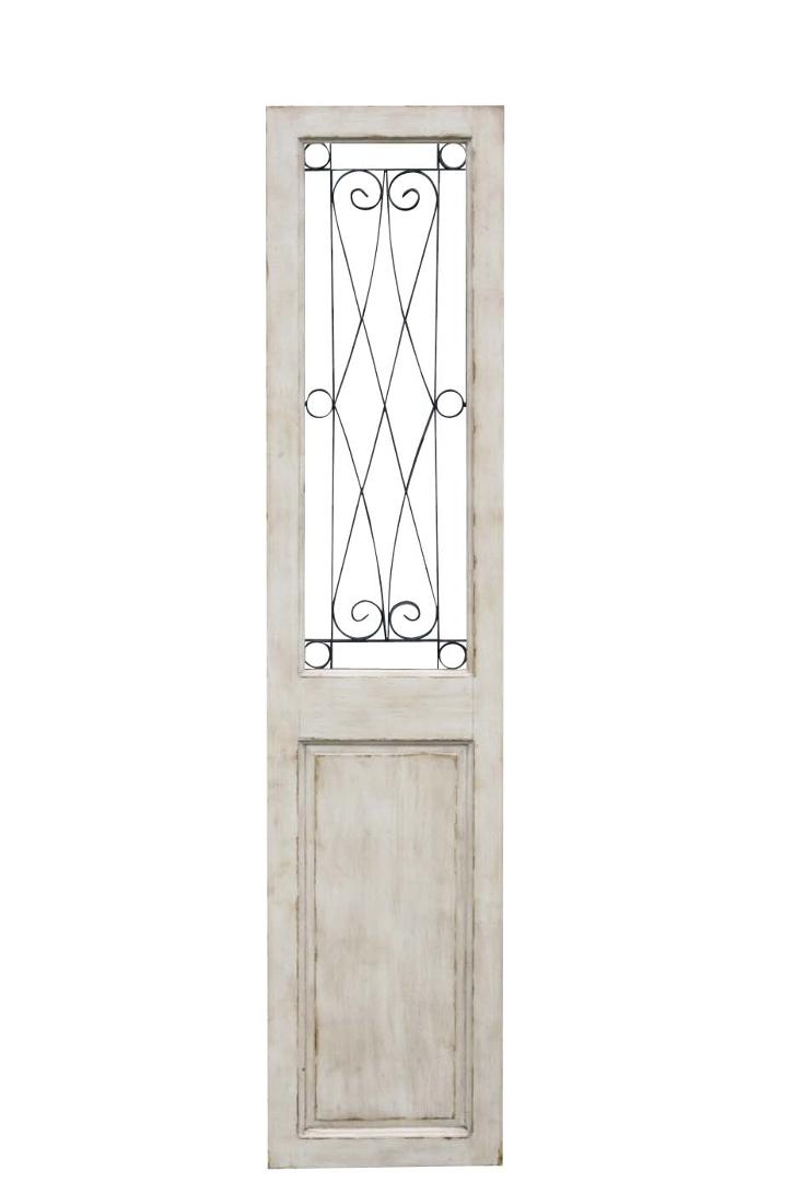 【在庫処分大特価!】ホワイトグリル・ドア建材 建具 壁飾り ウォールアート アンティーク風 ガーデンオーナメント ガーデンファニチャー レトロ 北欧 おしゃれ シンプル レトロ