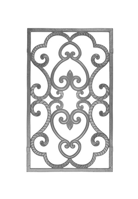 幅広い用途でお使いいただけるアルミ鋳物製のパネル!黒塗装仕上げ!