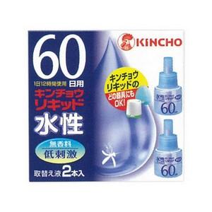 毎日がバーゲンセール キンチョウリキッドのどの器具にもOK 防除用医薬部外品 《KINCHO》 水性キンチョウリキッド 取替え液 品質検査済 2本入 60日 無香料