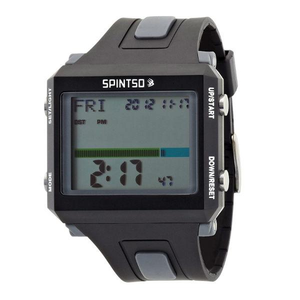 【最大1500円OFFクーポン発行中!】SPINTSO(スピンツォ) レフリーウォッチ 時計 メンズ グレー spt100-gr