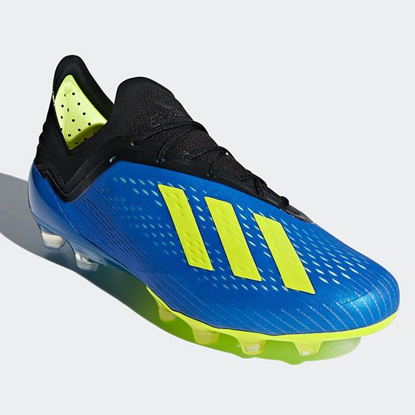 アディダス(adidas)エックス18.1 HG/AGサッカースパイク メンズ (18aw)フットボールブルー/ソーラーイエロー/コアブラックAP9937【052417】
