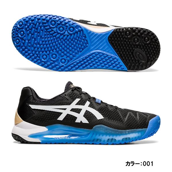 アシックス(asics) GEL-RESOLUTION 8 OC テニスシューズ メンズ (20ss) ブラック/ホワイト オムニ/クレーコート 1041a078-001