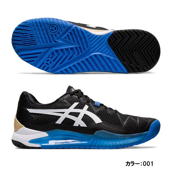 アシックス(asics) GEL-RESOLUTION 8 テニスシューズ メンズ (20ss) ブラック/ホワイト オールコート/ハードコート WIDE 1041a113-001