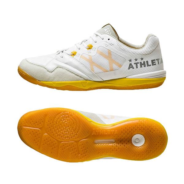 アスレタ (athleta) フットサルシューズ O-Rei Futsal Arthur メンズ (19aw) ホワイト×イエロー インドアコート用 11008-PWE/YEL