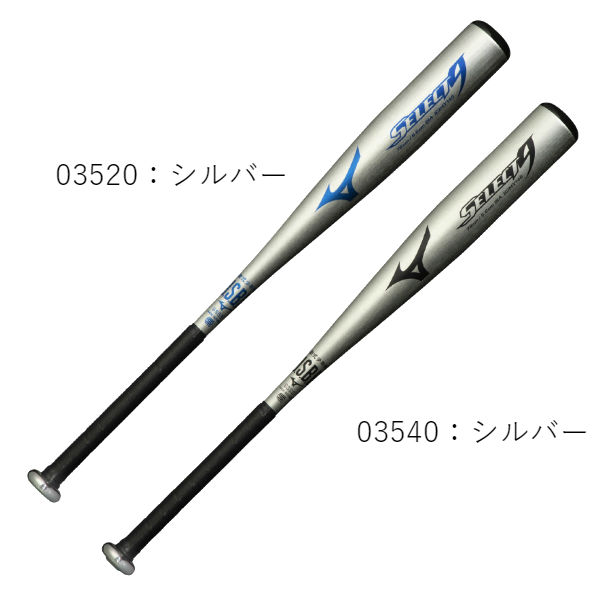 ミズノ(mizuno) セレクトナイン SELECT9 バット 一般 ジュニア (20ss) シルバー 78cm 平均540g トップバランス 1CJMY14678