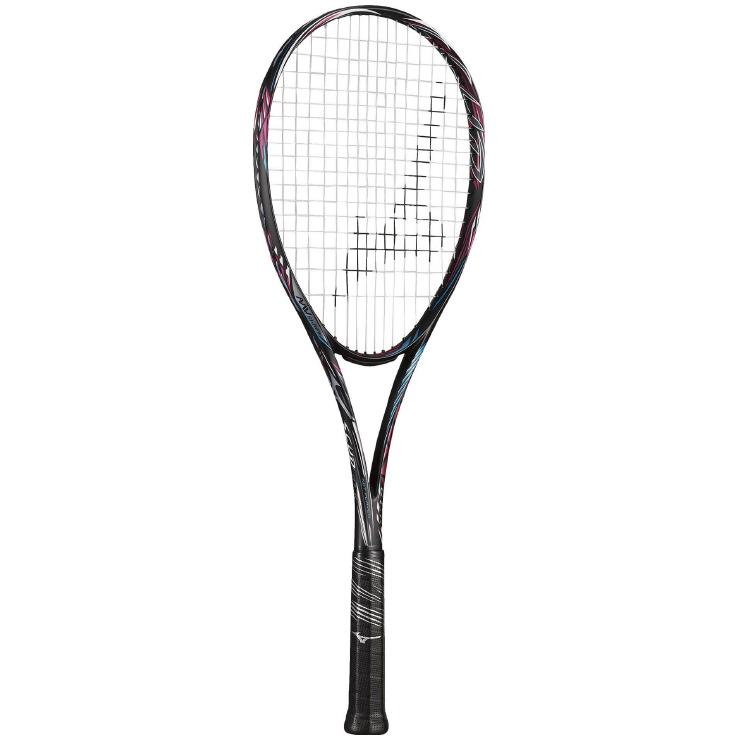 ミズノ(mizuno) SCUD 01-R (スカッド01アール) ソフトテニスラケット (20ss) ソリッドブラック×サンセットマゼンタ OU 1U 63JTN05364【ss2003】