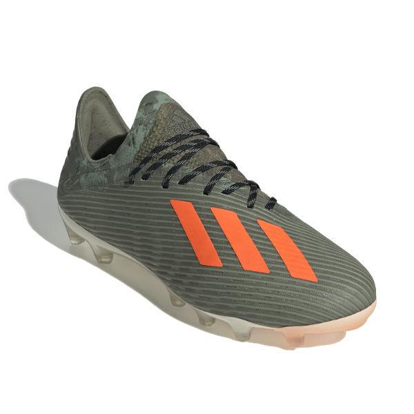 アディダス(adidas) サッカースパイク エックス 19.1 AG (19aw) レガシーグリーン×オレンジ×ホワイト F35677【1105】【P10】