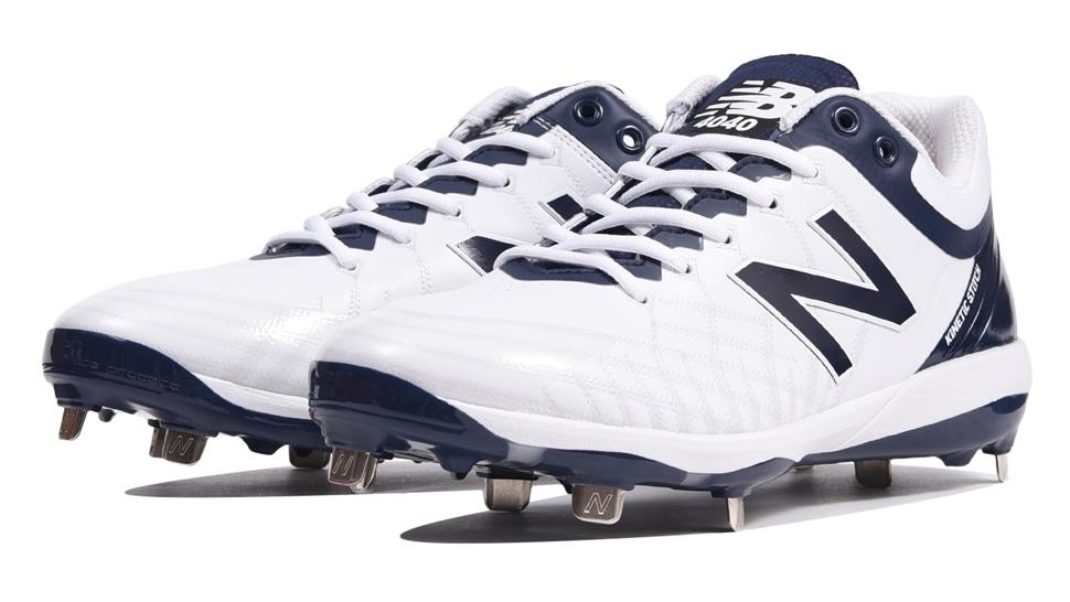 ニューバランス(new balance) 野球用スパイク (19aw)  ホワイト×ネイビー 靴幅: D(やや細い)L4040JN5