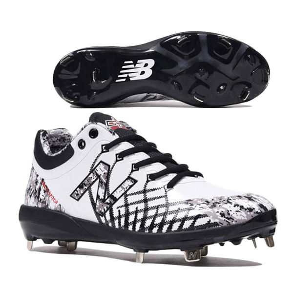 ニューバランス(new balance) 野球用スパイク (19aw)  ホワイト×ブラック 靴幅: D(やや細い)L4040PW5D