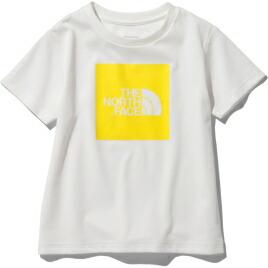 ジュニア キッズ 子ども 半袖 シャツ アウトドア UVケア ノースフェイス THE NORTH 20ss ホワイト×TNFレモン ss2109 Big 配送員設置送料無料 NTJ32026-WL Logo ショートスリーブカラードビッグロゴティー Tシャツ 送料無料カード決済可能 FACE