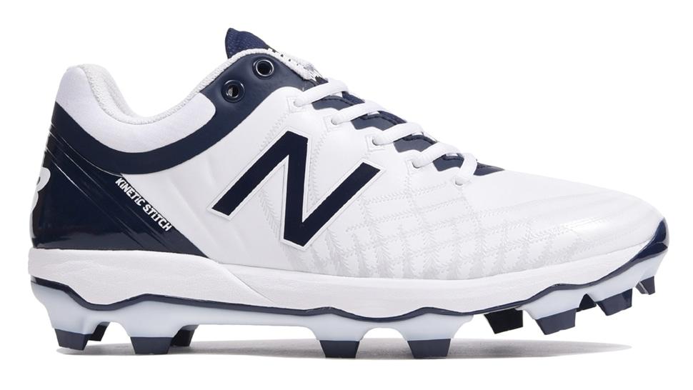 ニューバランス(new balance) 野球用ポイントスパイク (19aw) ホワイト×ネイビー 靴幅: D(やや細い)PL4040J5D