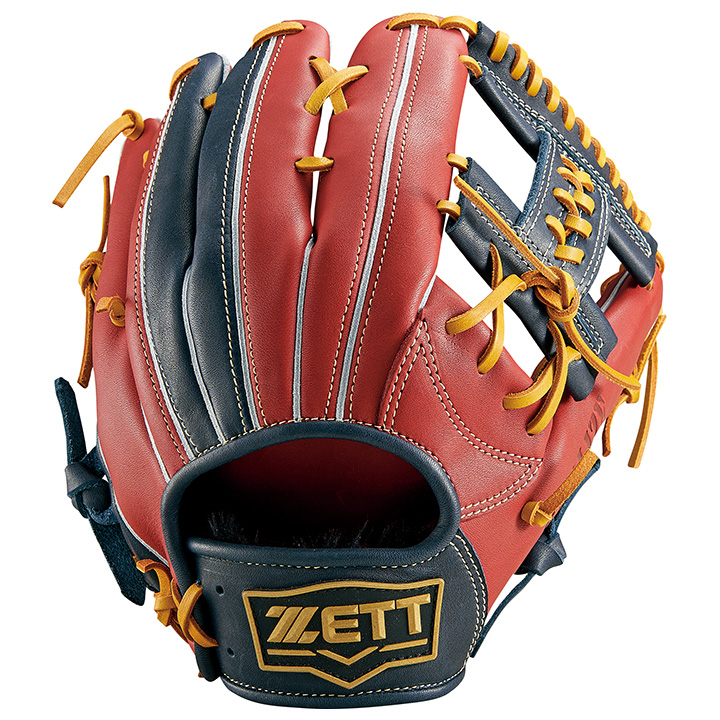 ゼット(ZETT) ソフトボール用グローブ リアライズ オールラウンド用(20ss) レッド×ネイビー サイズ4 BSGB52010-6429【P10】