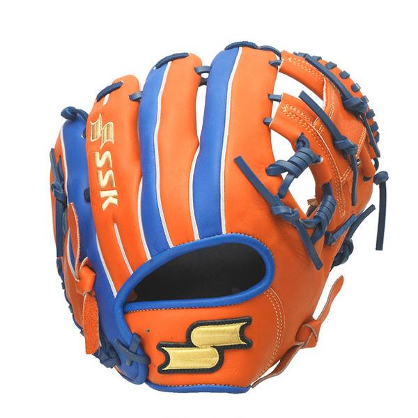 エスエスケイ (SSK) 軟式 野球 オールラウンド用 Super Soft スーパーソフト MLBモデル (20ss) オレンジ×ブルー 右投げ用 サイズ6L SSGRC-3560【P10】
