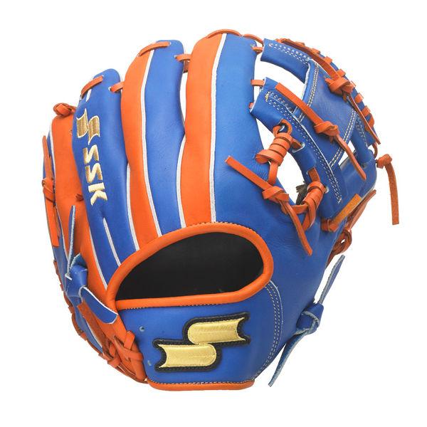 エスエスケイ (SSK) 軟式 野球 オールラウンド用 Super Soft スーパーソフト MLBモデル (20ss) ブルー×オレンジ 右投げ用 サイズ6L SSGRC-6035【P10】